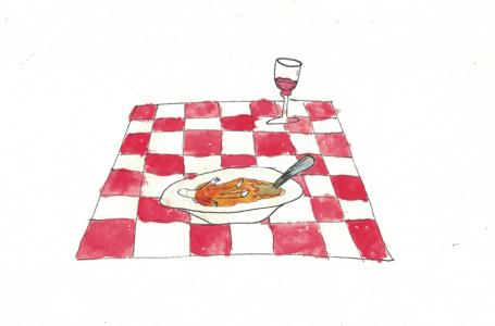 L'inzuppato: illustrazione di Emma Grillo