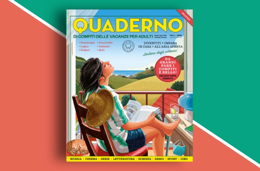 Quaderno di compiti delle vacanze per adulti di Blackie Edizioni: un tuffo nel passato, un bellissimo passatempo