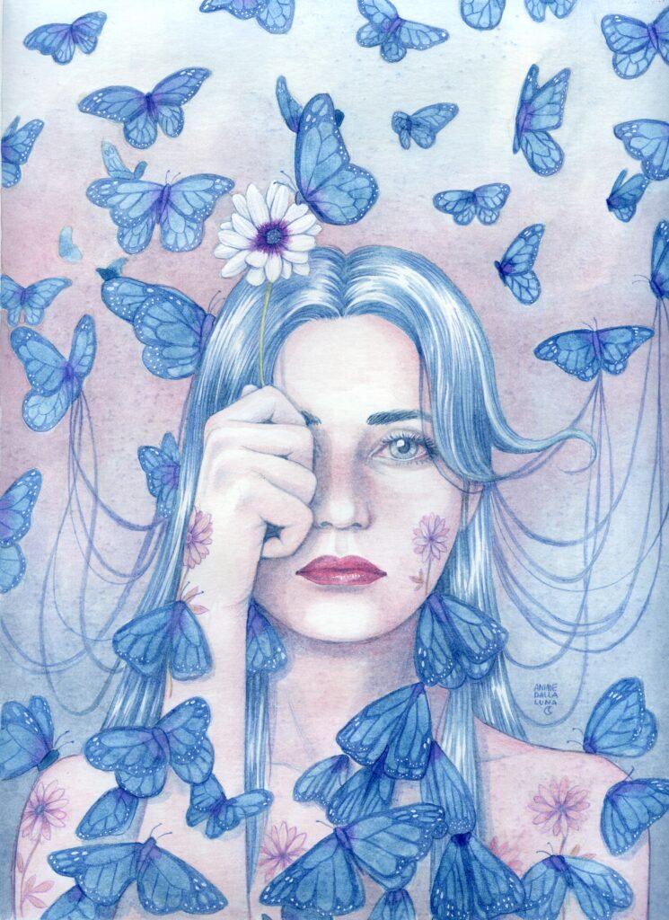 Illustrazione Sona De Nardo - Farfalle