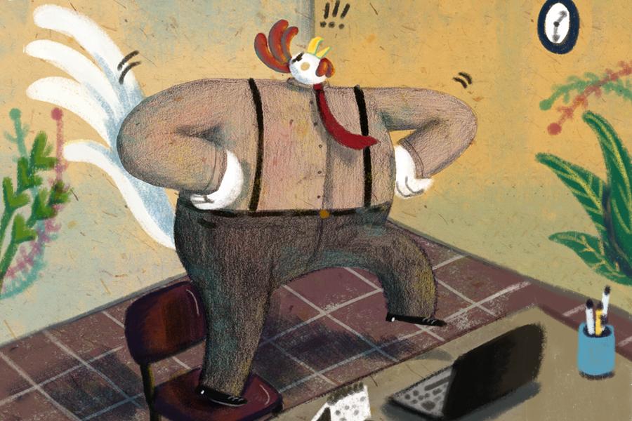 il nuovo impiegiato_illustrazione Federica Crispo