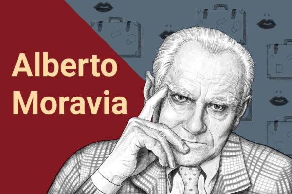 Alberto Moravia - illustrazione Sonia De Nardo