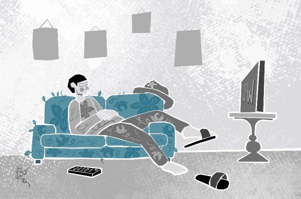 Illustrazione_il divano di Fabio Boffelli